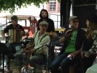 Irish folk music at the wine festival.