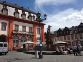 Outside the palace walls in Weilburg.