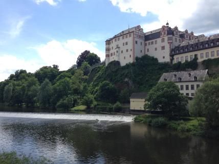 The Lahn river wraps around Weilburg on three sides.