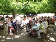Wine festival at Schloss Weilburg.