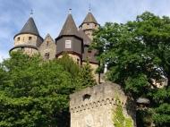 Walking around the castle.