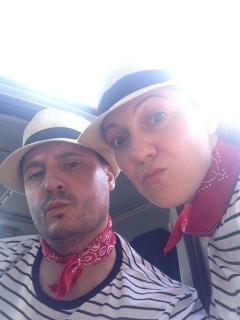 Pisa's best gondoliers, Tony and Toni.