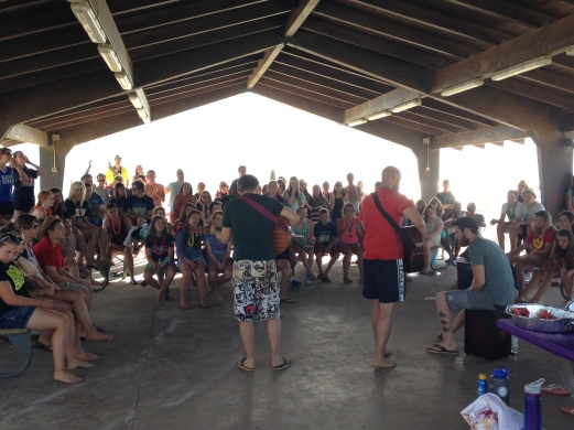 Closing the week with worship on the beach.
